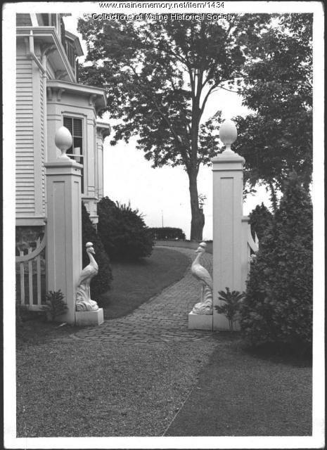 Walkways, John Mead Howells home, Kittery Point, 1940