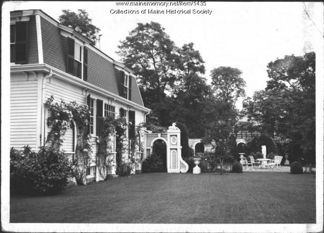 Patio, John Mead Howells home, Kittery Point, 1940