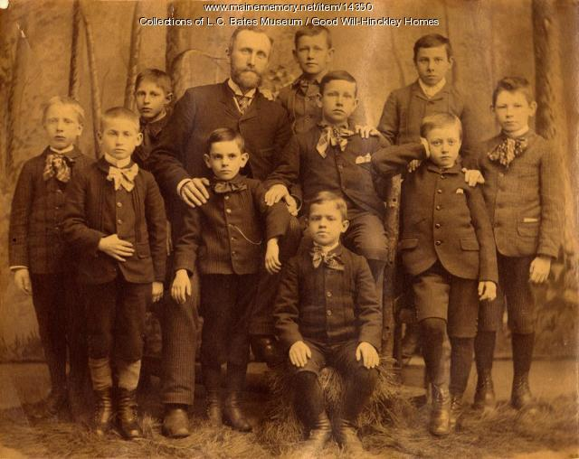 Teacher and Good Will Boys, Fairfield, 1890