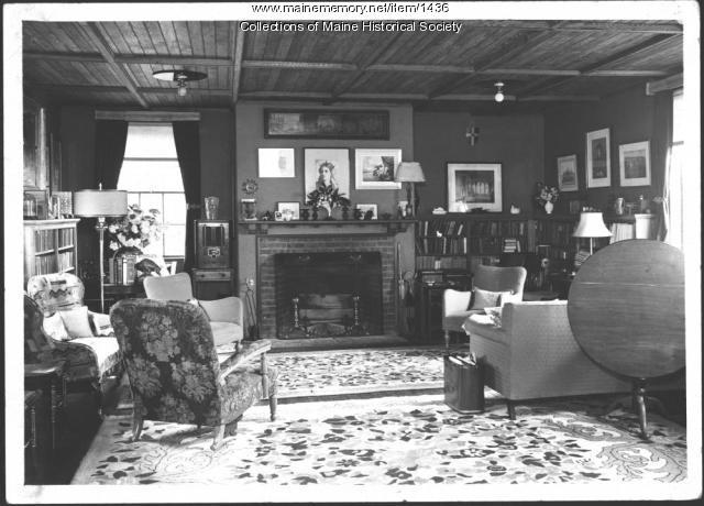 Interior, John Mead Howells home, Kittery Point, 1940