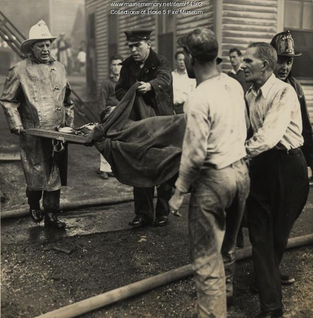 Fire in Bangor, ca. 1946