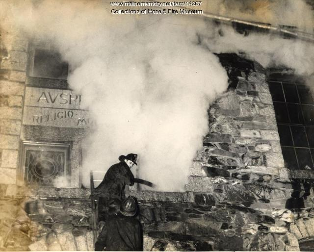 St. Mary's School Fire, Bangor, ca. 1911