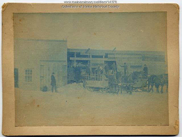 Long Creek Loading Shed, South Portland, ca. 1890