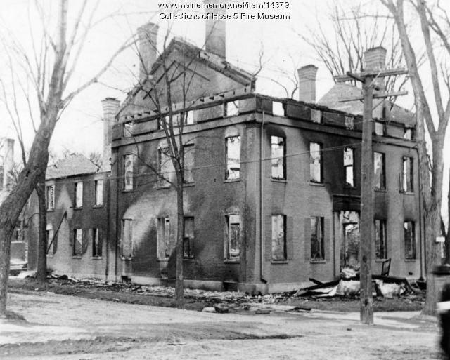 House on Broadway in Bangor - Fire of 1911