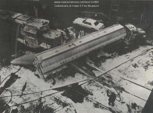 Webber Oil Truck and Train Collision