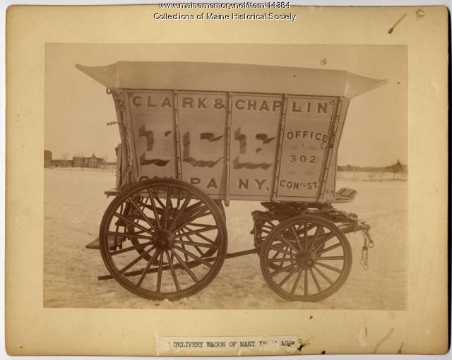 Clark and Chaplin Ice Co. wagon, ca. 1885