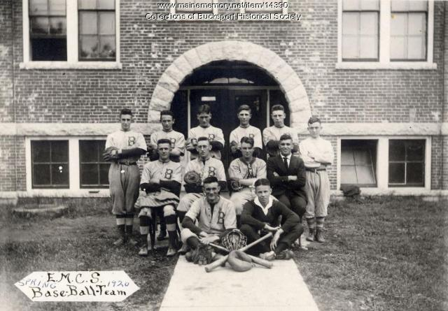 Baseball team, East Maine Conference Seminary, 1920