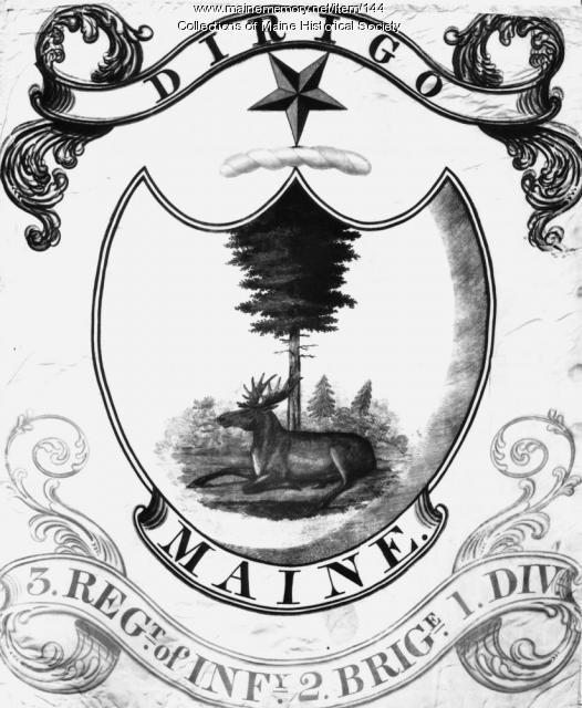 Third Maine Regiment Flag, ca. 1822