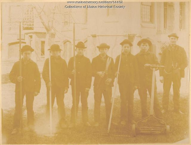 State School for Boys garden crew, ca. 1880
