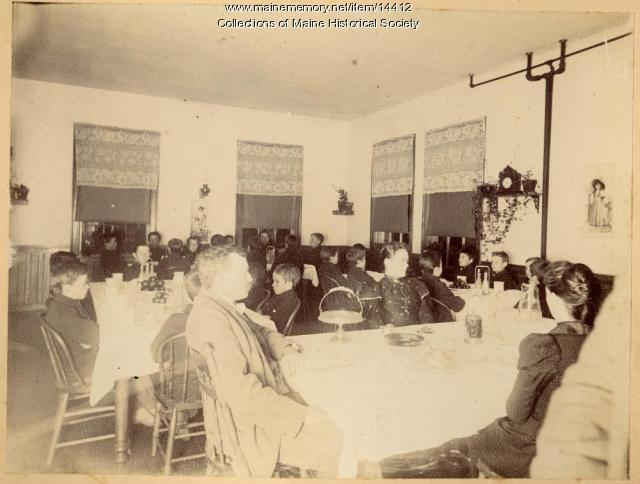 Dining room, State School for Boys, ca. 1880s