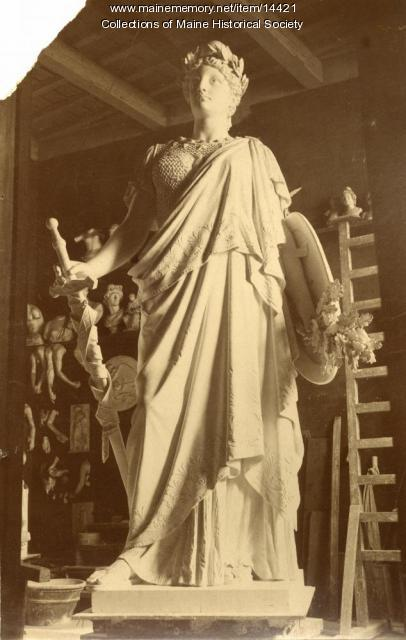 Plaster model of Our Lady of Victories, ca. 1890
