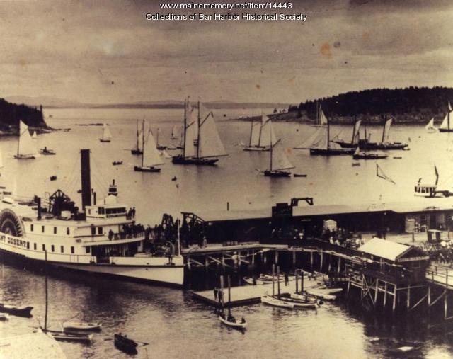 Bar Harbor Wharf, ca. 1900
