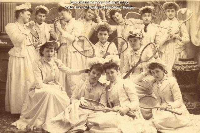 Women's Tennis Club, Bucksport, ca. 1900