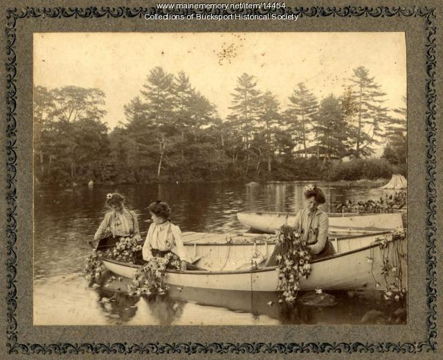 Bucksport women, Alamoosook Lake, ca. 1900