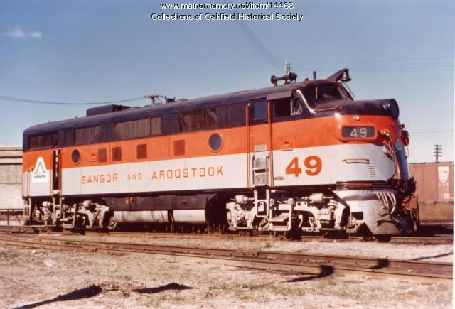Trial Paint Scheme, Bangor and Aroostook F-3, ca. 1972