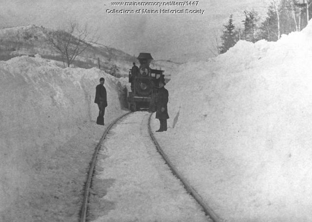 Rumford Falls, Buckfield Railroad, ca. 1870