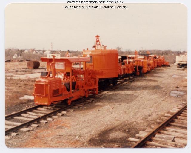 Bangor & Aroostook equipment, Houlton, ca. 1970