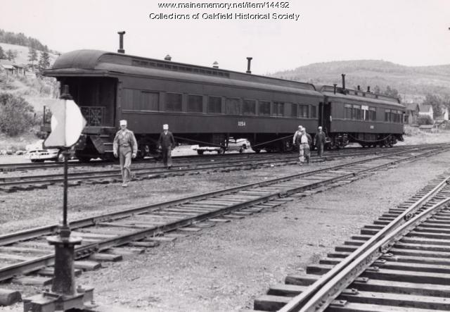 Bangor and Aroostook Outfit Cars, Fort Kent, c. 1952