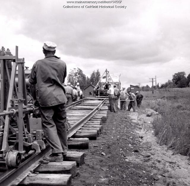 Bangor and Aroostook Railroad Track Repair, Littleton, 1956