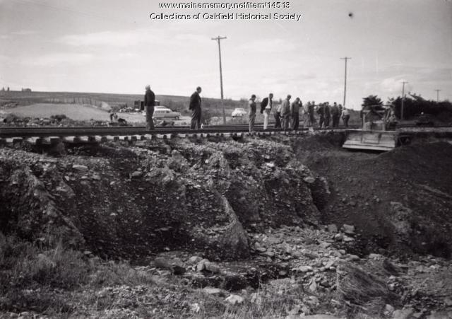 Track washout, Maysville, 1954
