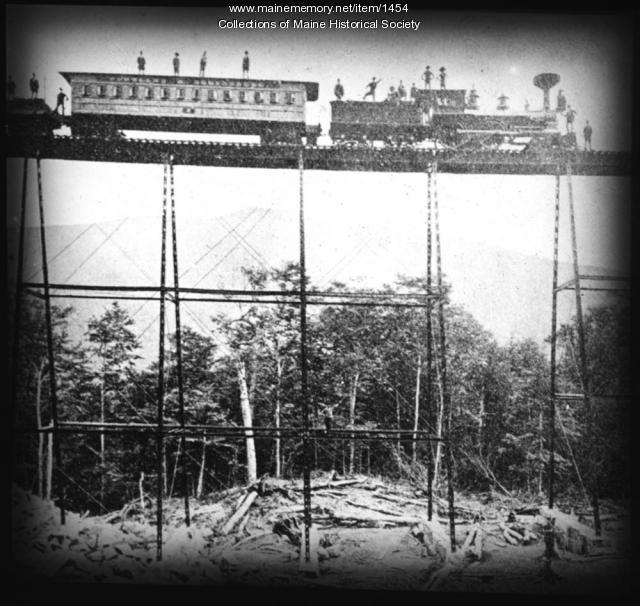 Railroad trestle, New Hampshire, ca. 1880