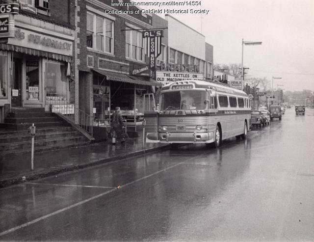 Bangor and Aroostook Railroad Bus Service, Presque Isle, 1957