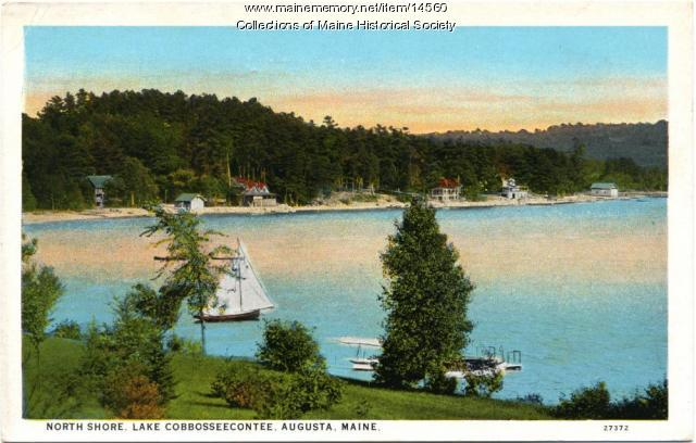 North Shore, Lake Cobbosseecontee, Augusta, ca. 1920
