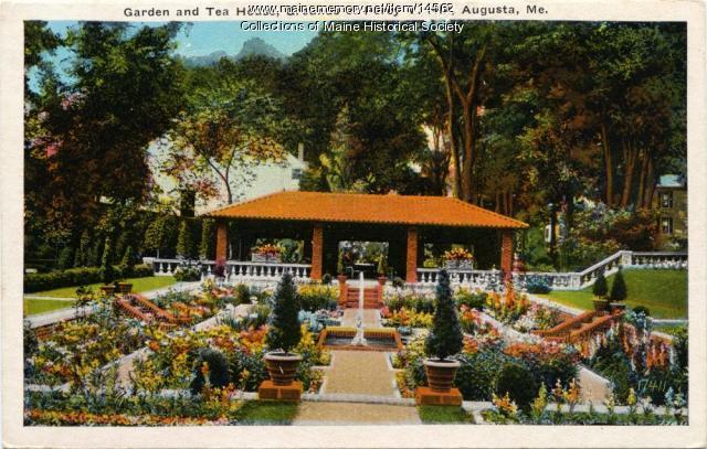 Garden and Tea House, Augusta, ca. 1915