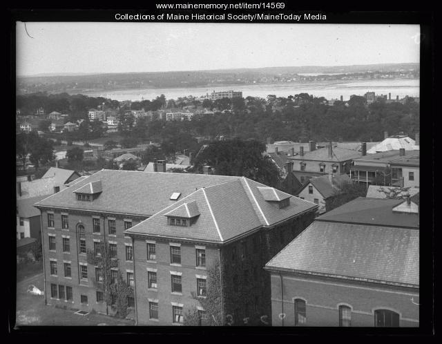 View from Maine General Hospital, 1926