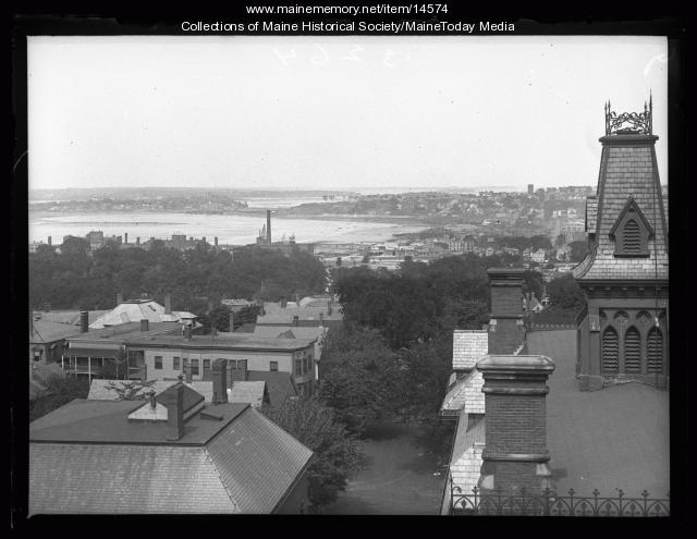 Casco Bay from Maine General Hospital, Portland, 1926