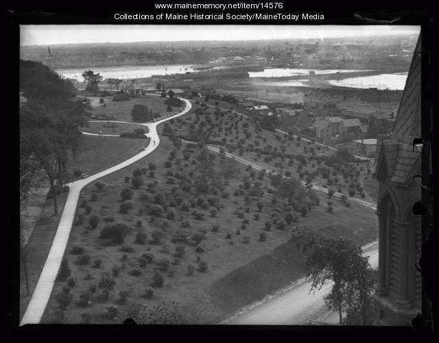 Western Promenade from Maine General Hospital, 1926