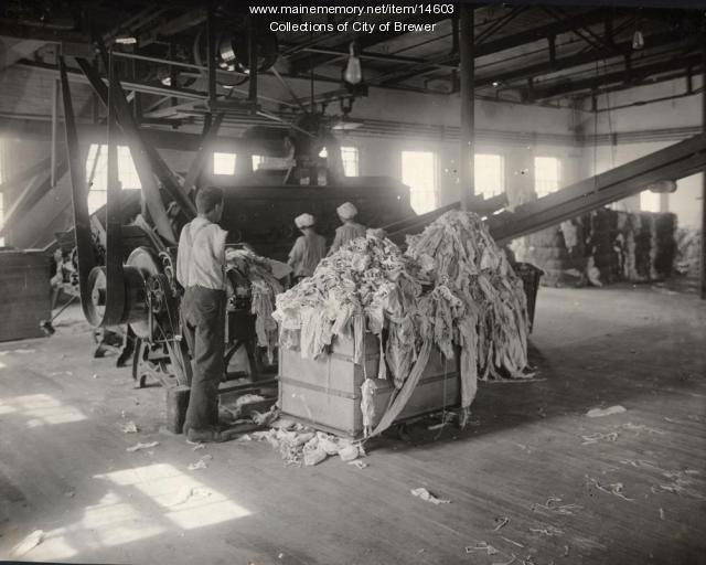 Eastern Manufacturing Company, Brewer,  ca. 1921