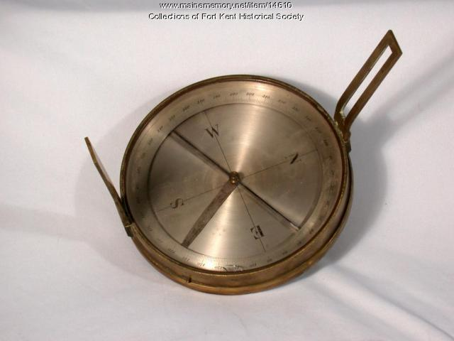 Surveyor's compass, Fort Kent, ca. 1890