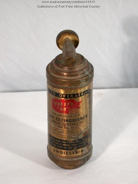 Presto fire extinguisher, ca. 1940