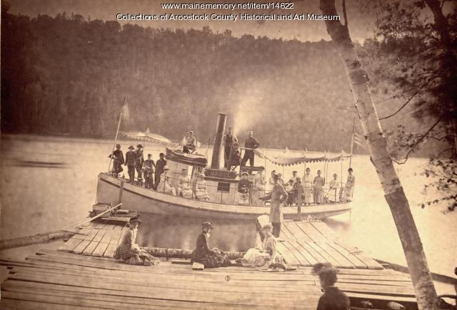 The Steamer, Mable, on Nickerson Lake, c. 1895