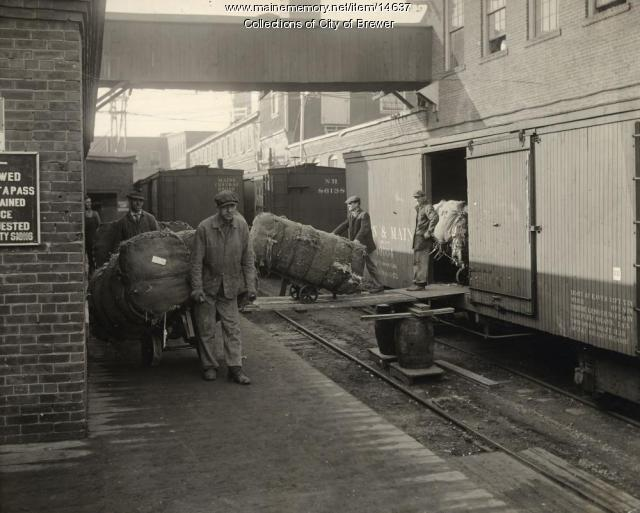 Unloading rags, Eastern Manufacturing Co., Brewer