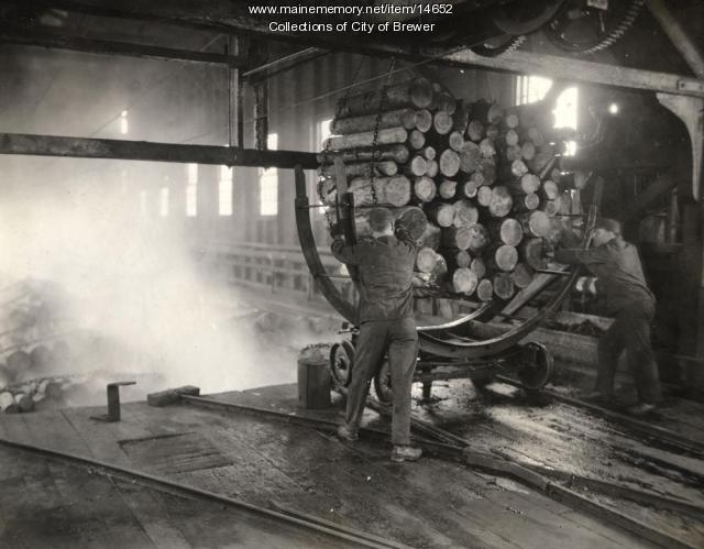 Pulpwood work, Eastern Manufacturing Co., Brewer, 1921