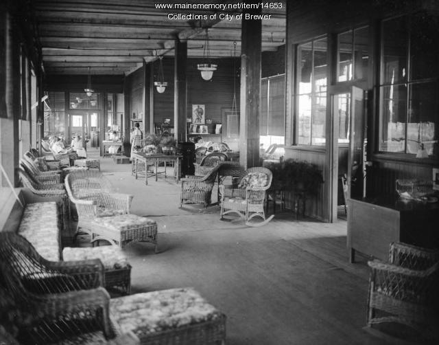 Employee reading room, Eastern Manufacturing Co., Brewer