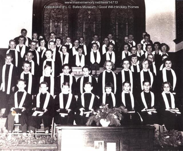Good Will Homes for Boys and Girls choir in the Moody Chapel