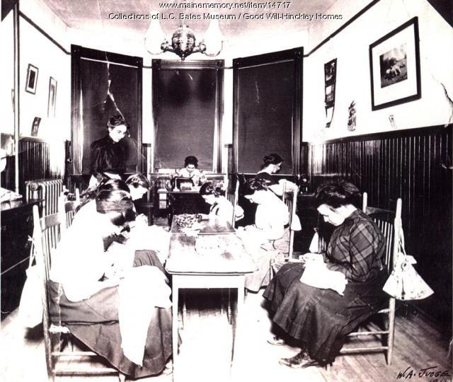 Girls sewing class, Good Will Home, 1911