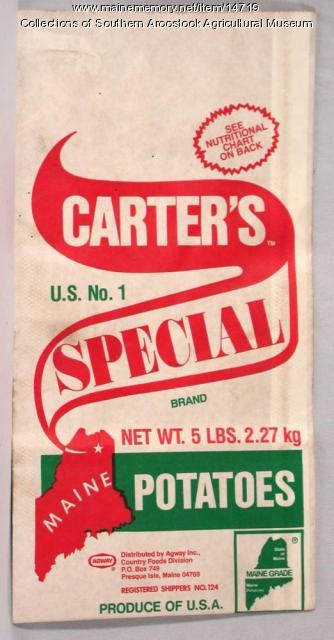 Carter's Special Brand potato bag, Presque Isle, c. 1970