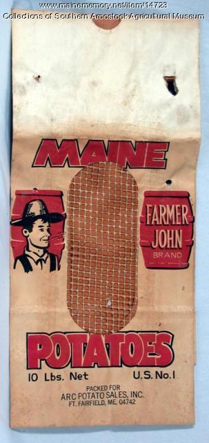 Farmer John Brand Potatoes, Fort Fairfield, c. 1955