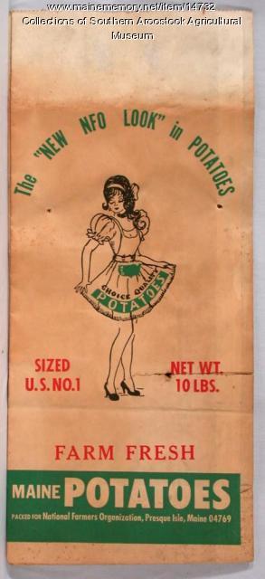NFO Potato bag, Presque Isle, 1960
