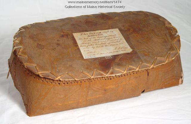 Birch bark box, Molly Ockett, circa 1770