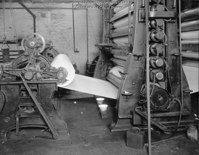 Paper making, Brewer, 1921
