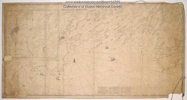 Map of Portland Harbour and islands, 1825