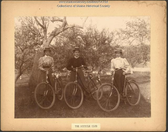 Bicycle Club members, ca. 1895