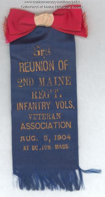 2nd Maine infantry reunion badge, 1904
