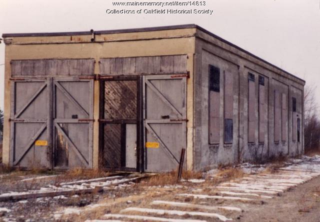 Bangor and Aroostook Railroad Roundhouse, Presque Isle, c. 1975