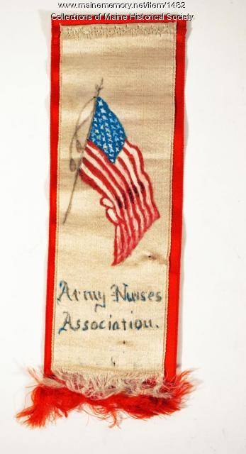 Badge for the Army Nurses Association, ca. 1877